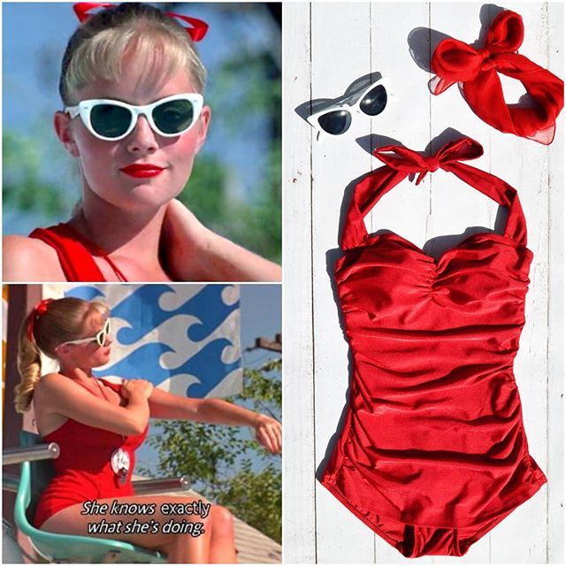 """She knows exactly what she's doing!"" Show off your poolside perfection this Halloween as Ms. Wendy Peffercorn from The Sandlot! #halloween"