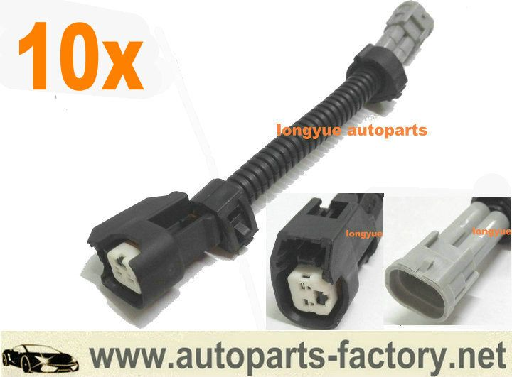 Longyue 10pcs Uscar Female Ev14 Ev6 To Male Nippon Denso Fuel Injectors Adapter 2jzgte 2jzge 2jz Gte