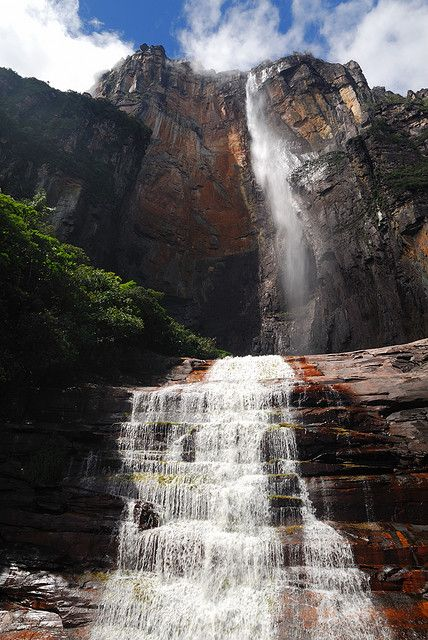 Salto Ángel, the highest waterfall in the world in Canaima National Park, Venezuela (by PavelPix).: Salto Ángel, Salto Angels Venezuela, Highest Waterfall, Estados Bolívar, Beautiful Places, Waterfalls Highest, Canaima National Parks, Angels Fall, Venezuela Waterfall