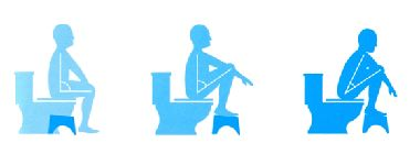 Squat when relieving your colon instead of sitting on the toilet.