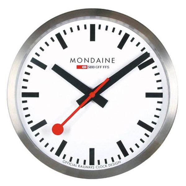 Swiss Railway Wall Clock Silver By Mondaine Mondaine Clock Red Wall Clock Mondaine Wall Clock