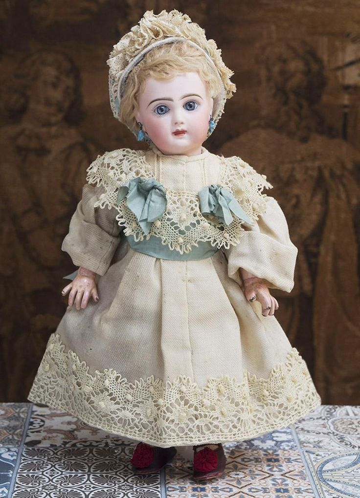 "13"" (33 cm) Antique French All original Jumeau Bebe doll with closed from respectfulbear on Ruby Lane"