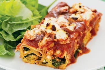 Relleno de espinaca y ricotta para lasagna, cannelloni o ravioli
