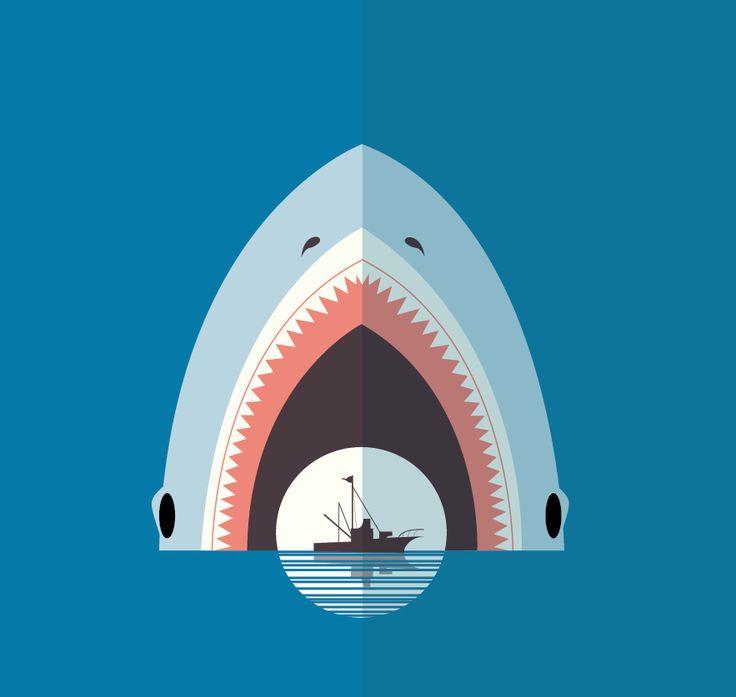 Shark Week Tribute #illustration #shark #sharweek #illustrator #jaws #design