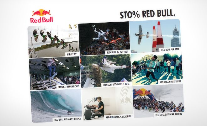 Red Bull: Multimedia CD with events presentation - Jamel Interactive interactive agency Gdansk, Tricity