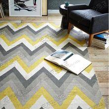 Акриловые полосатый ковер alfombras Современные ковры Ручной Работы гостиная Спальня Моды творческий Журнальный столик диван tapete(China (Mainland))