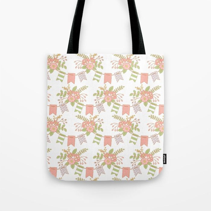 Get some sun on our oversized, Artist-designed Beach Towels. And if you're loving the print, it's also available as a Hand or Bath Towel.      #peach #green #blossom #fresh #Flowers #Floral #Springtime #Pastels #Flowery #bloom #botanical #garden #Pennants #Mia #society6 #ToteBag