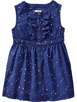 Star-Print Ruffle Dresses for Baby (Old Navy)