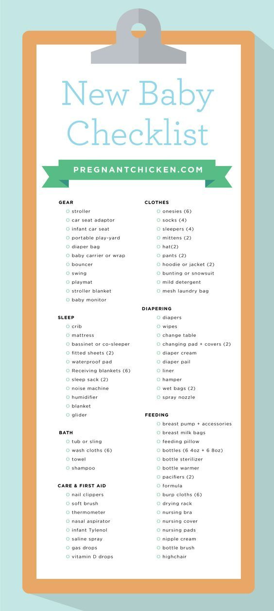 A complete checklist of all the items you'll need to prepare for a baby! It's a great list of all the gear you need for your new baby girl or baby boy.