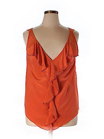 Leifsdottir Sleeveless Silk Top Size 14