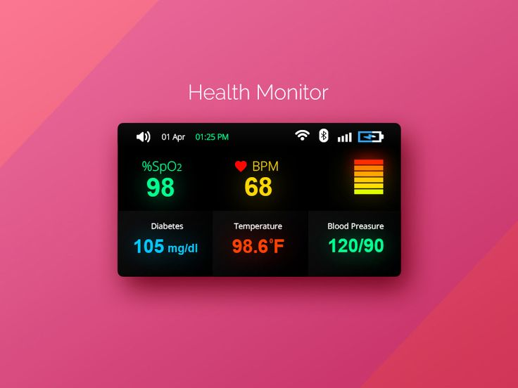 Mini Health Monitor UI