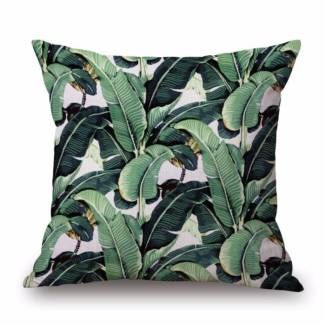 NEW Tropical Banana Leaf Linen Cushion Cover Outdoor Home Decor | Lounging & Relaxing Furniture | Gumtree Australia Cockburn Area - Atwell | 1146379476
