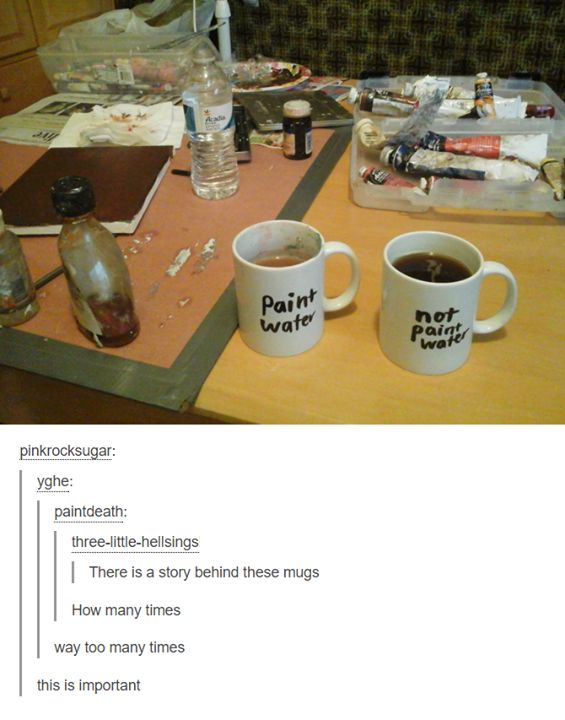 Can't say how many times this has happened to me! I need these mugs.