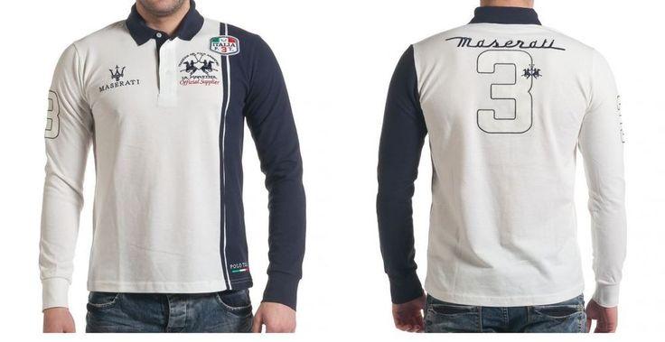 BNWT La Martina Maserati White Polo Shirt Men Size: M #LAMARTINA #Polo
