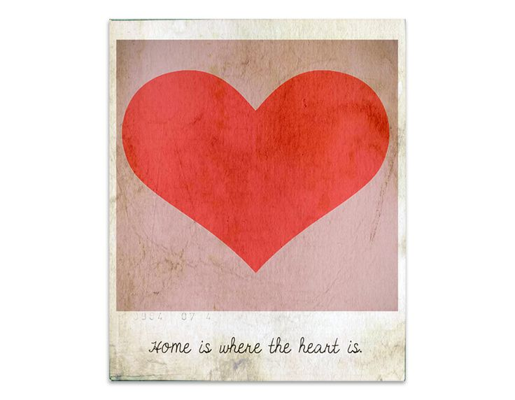 Other – 4 postcards - HOME IS WHERE THE HEART IS – a unique product by nuukk on DaWanda