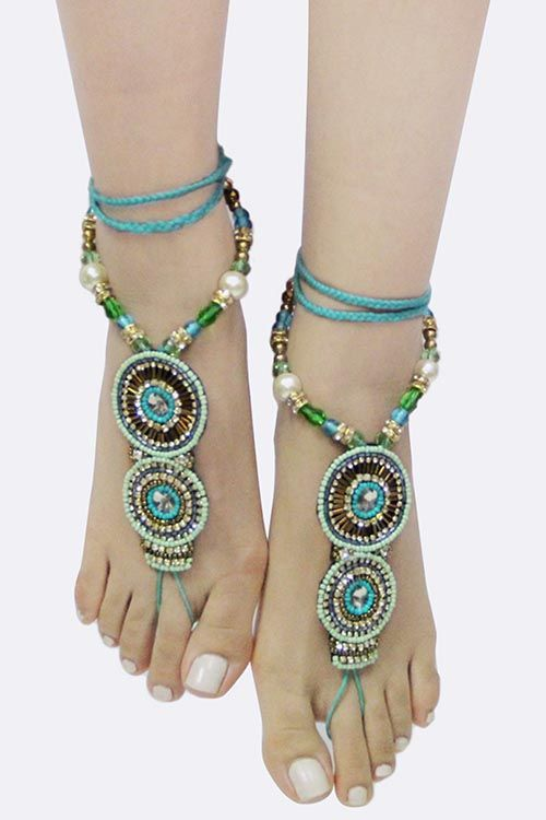 Trendy and adorable feet charms! 3 Colors Available!!