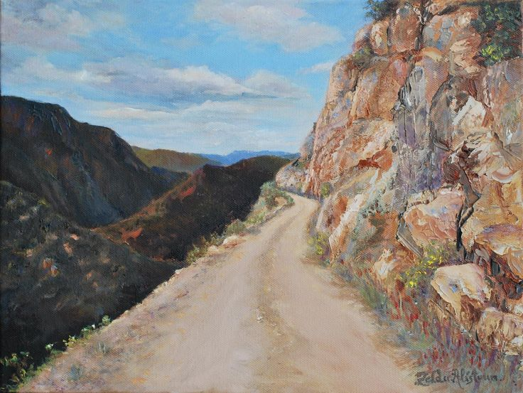 BAVIAANS by Zelda Alistoun paintings Oil on canvas 400 x 300 mm