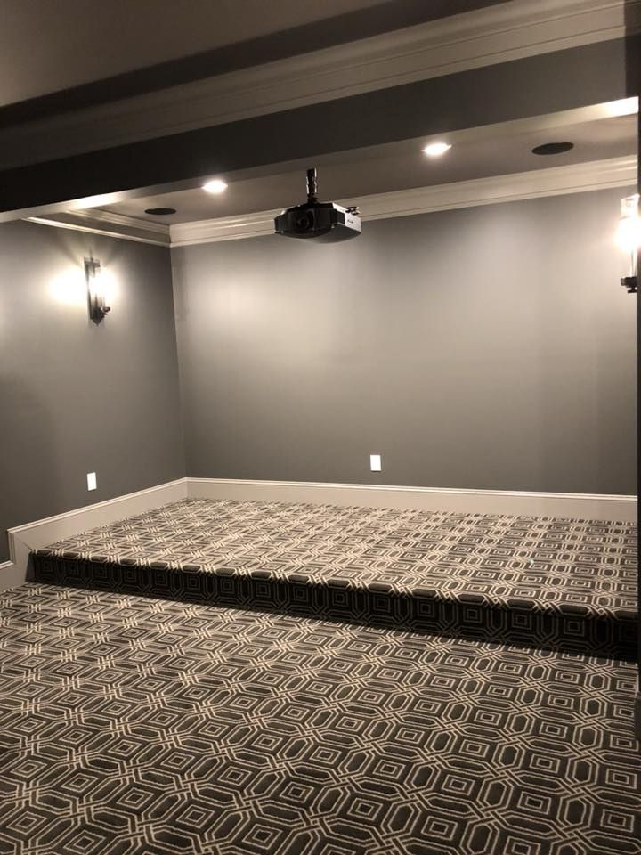 Tuftex Carpet By Shaw Pavilion Installed In Media Room