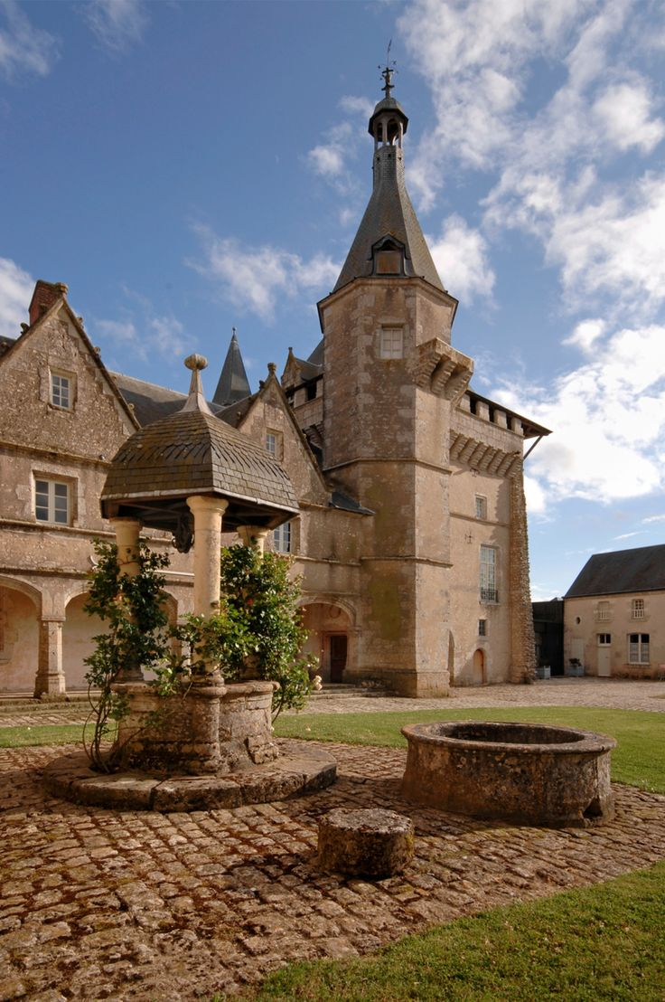 Le château de Talcy, XIIIè siècle, dans le Loir et Cher, région Centre. France.