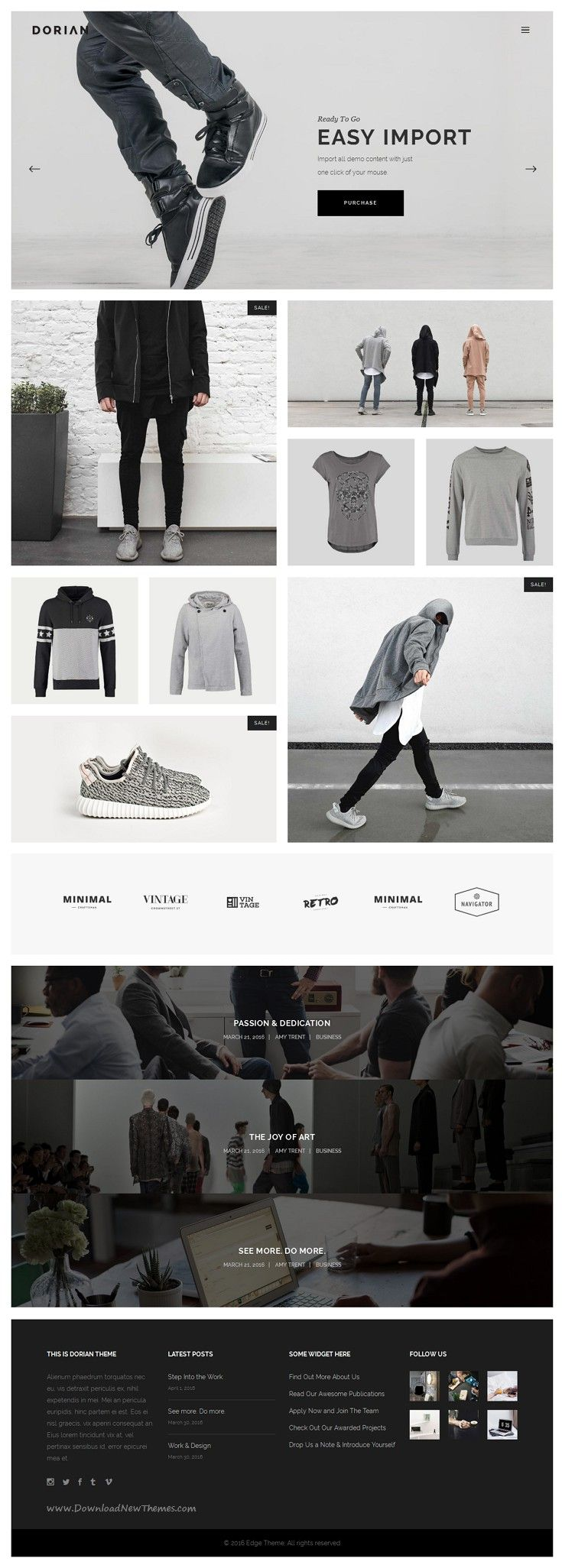 Dorian is Refined Multi-Concept WordPress Theme come with 21 stunning homepage layouts and great features. #eCommerce #shop #template