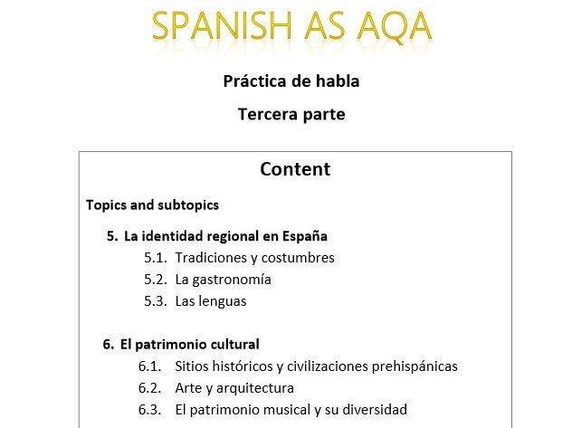 aqa spanish coursework Awarding body: aqa (for gcses) save why did so many people die in the 2010 haiti earthquake 5 star(s) word count: 1206 in the vast majority ofschools gcse maths.