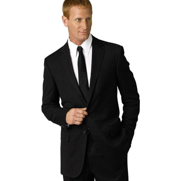 Geoffrey Beene Black Modern Fit Black Stripe Suit Separate Jacket -... ($50