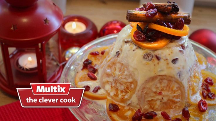 Christmas pudding doesn't have to be hot. Our frozen pudding is full of rich orange and spice flavours set in creamy vanilla ice cream. Try serving it with a simple fresh unsweetened strawberry and fresh orange segment salad as a contrast to the sweet pudding. Spiced orange and cranberry frozen Christmas pudding