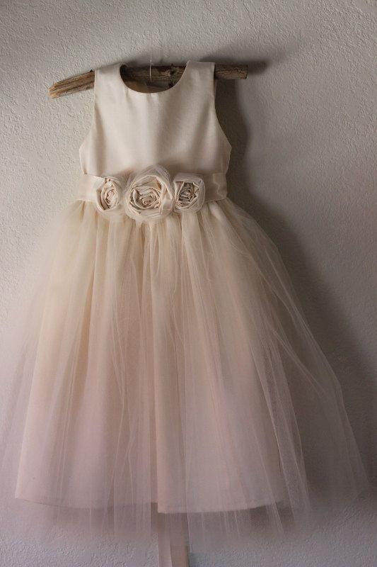 Stile Vintage Flower Girl Dress vestito ragazza di di OliveandFern