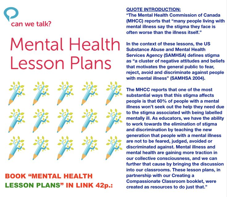 Book with Lesson plans to raise awareness Mental Health ...