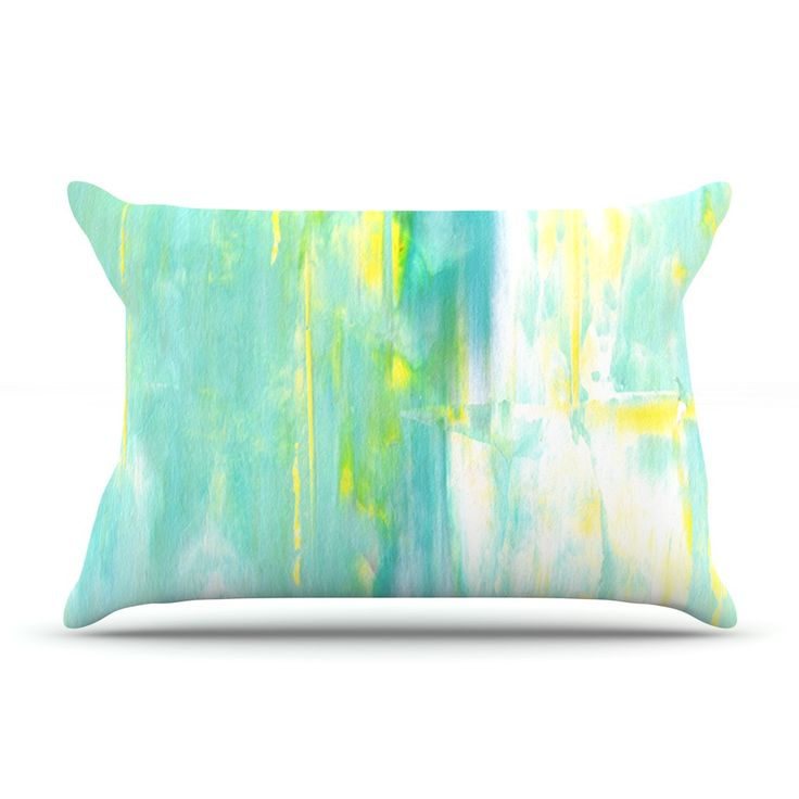 """CarolLynn Tice """"Spring Forward"""" Green Pillow Case"""
