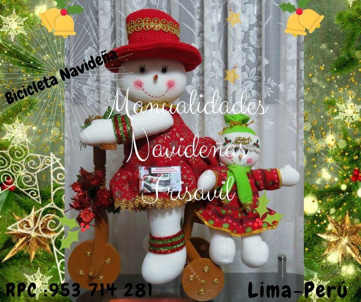 Manualidades Navideñas Frisavil TIENDA ONLINE Bici Navideña Nieves #decoracion #navidad