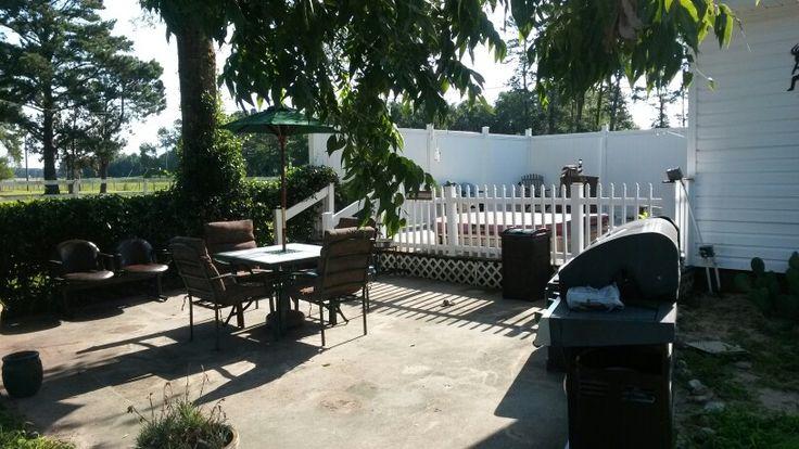 Updated and repurposed patio