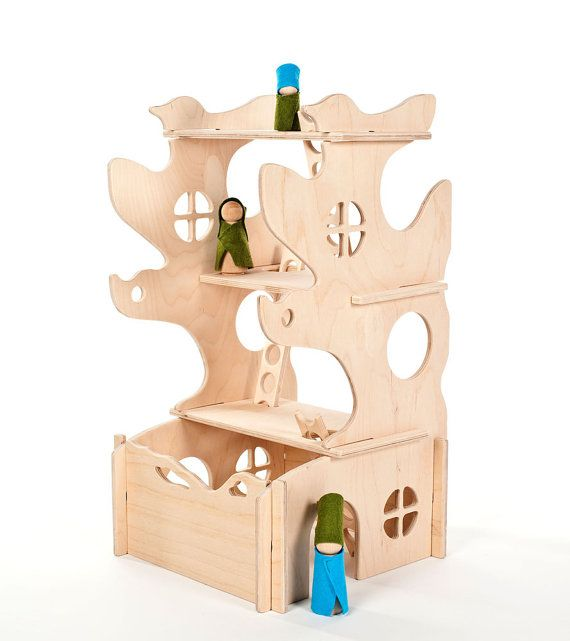 Modular Tree House, Montessori and Waldorf inspired wooden building toy for children of all ages