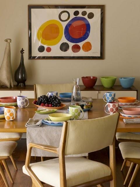 Calder and pottery #calder #art #pottery #color