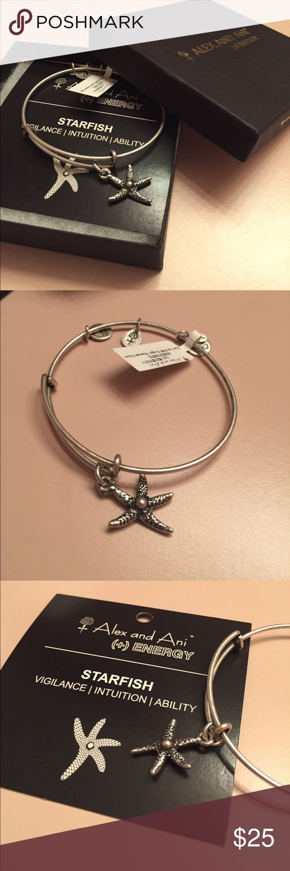 silver alex and ani starfish bracelet brand new silver starfish alex and ani bracelet! super cute and one of the classics! i already have this bracelet and got a duplicate as gift but i wear mine all the time! goes great with so many outfits! love this Alex And Ani Jewelry Bracelets