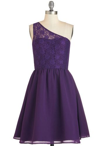 Plum Kind of Wonderful Dress. Leave it to you to heighten the elegance of the evening with this deep-purple dress! #purple #prom #wedding #bridesmaid #modcloth