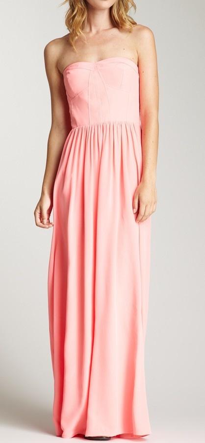 Petal pink maxi dress / Rebecca Taylor