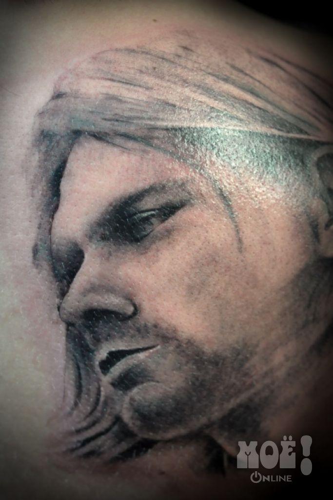 "Курт Кобейн. Работы воронежских тату-мастеров в жанре ""портрет"" / Works of Voronezh tattoo artists in the portrait genre"