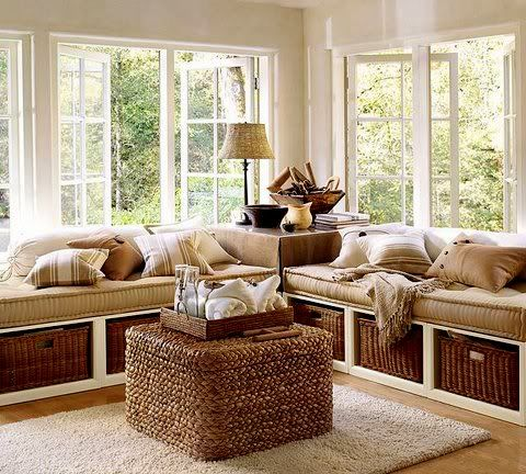 built in banquette bench/bed - Google Search