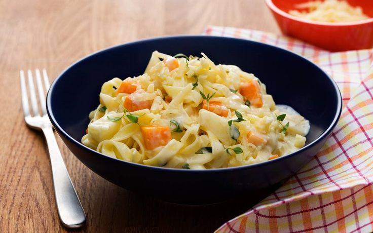 Pasta med grönsaker och rosmarin