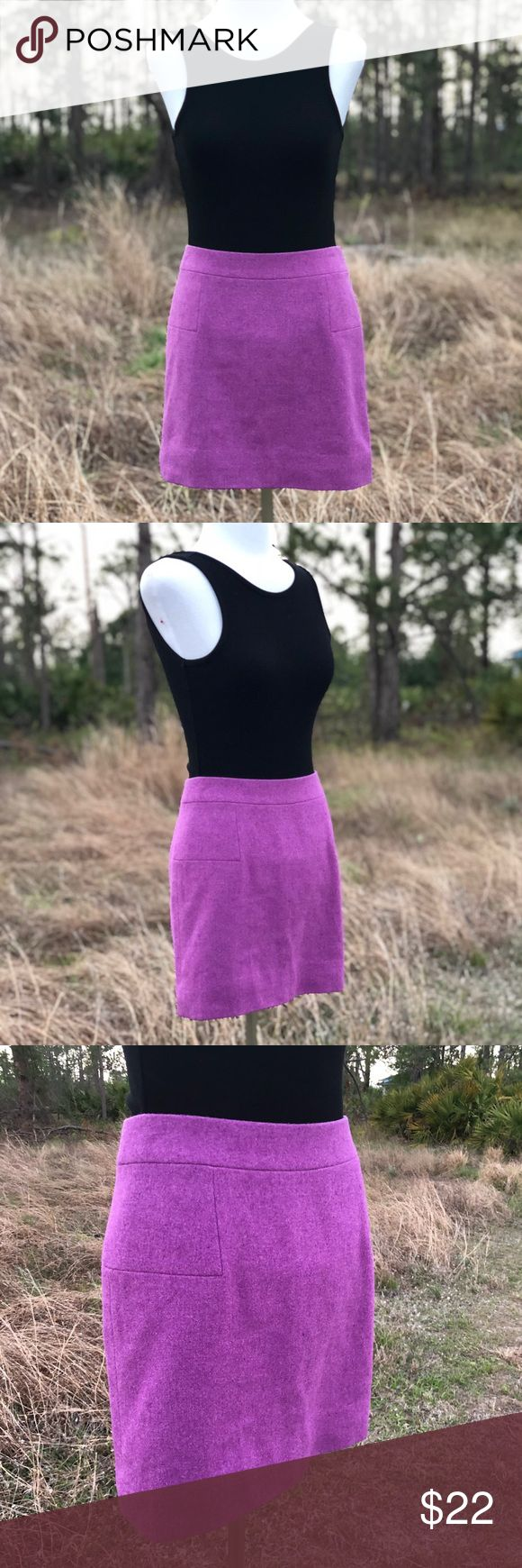 "J. Crew Mini Skirt J. Crew lavender wool mini skirt. Fully lined. Like new. Very on trend, this skirt is 100% ""Clueless"" vibes. Channel your inner Cher Horowitz or Dionne Davenport in this fun fitted mini. J. Crew Skirts Mini"
