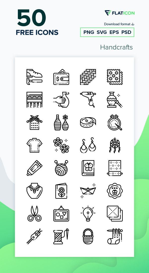 50 Free Vector Icons Of Handcrafts Designed By Freepik Icon Pack Free Icon Packs Vector Icons