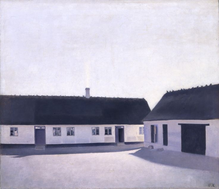 Vilhelm Hammershøi (1864-1916) From a Farm, Refsnæs, 1900 Oil on canvas 55.5 × 63 cm Inv. no. B 306