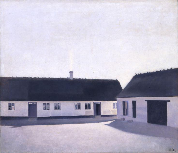 Vilhelm Hammershøi (1864-1916) From a Farm, Refsnæs, 1900 Oil on canvas 55.5 × 63 cm Inv. no. B 306