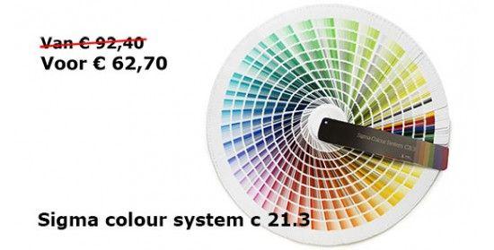 Sigma Colour System C21.3 - NCS, RAL en Metallic kleurenwaaier. Goedkoop!