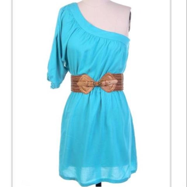 Cowboy Boots, Amazin Colors, Blue Amazing, Blue Dresses, Riding Boots, Add Cowboy, Shoulder Dressss, Shoulder Dresses, Gorgeous Colorrrr