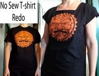 Upcycled Design Lab Blog - Quick and Easy No Sew T-shirt Make Over in a 1.5 minute video