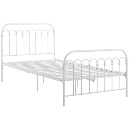 Is this cute or what?!? Metal twin bed from Walmart, $120. Good backup if something goes awry with the jenny lind daybeds