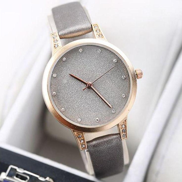 Aristocratic temperament flash women ladies Quartz watch wrist clocks micro powder gold sand disc auger waterproof gift belt h2 - Online Shopping for Watches