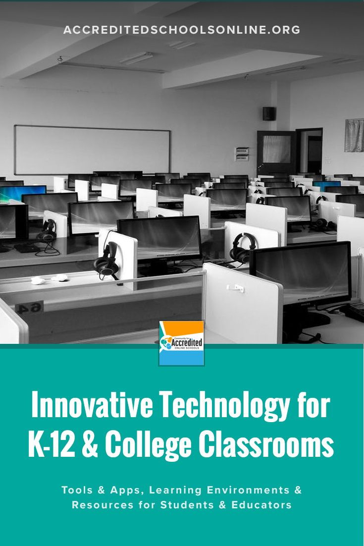 Innovative Technology For K 12 College Classrooms Accredited Schools Online Find Top Rated Accredited Programs Online Virtual Learning Environment Educational Technology Innovation Technology